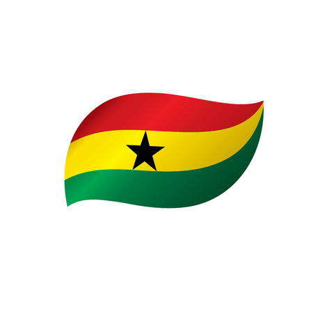 Ghana flag, vector illustration on a white background Illustration