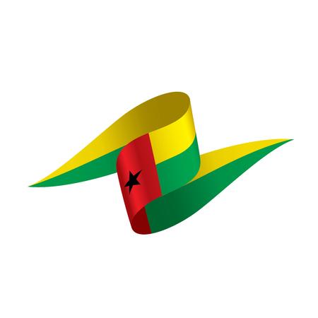 Guinea Bissau flag, vector illustration on a white background Illustration