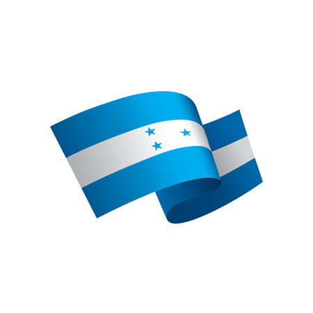 Honduras flag, vector illustration on a white background Illustration