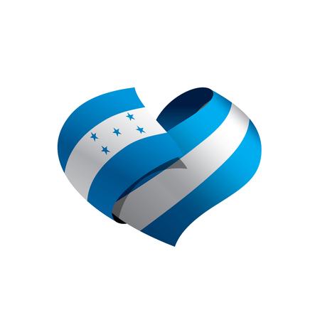 Honduras flag, vector illustration on a white background Illustration