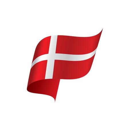 Danmark flag, vector illustration on a white background