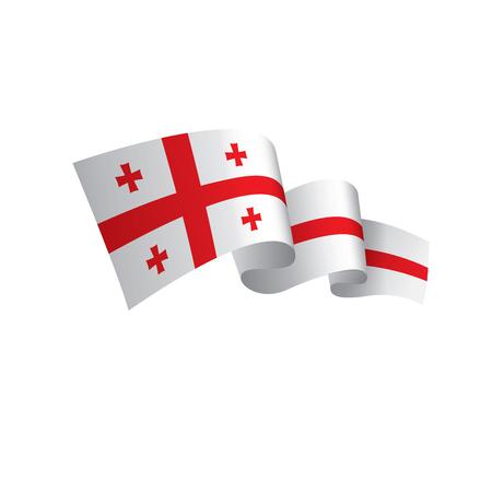 Georgia flag, vector illustration