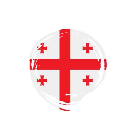 Georgia flag, vector illustration on a white background Stock Illustratie