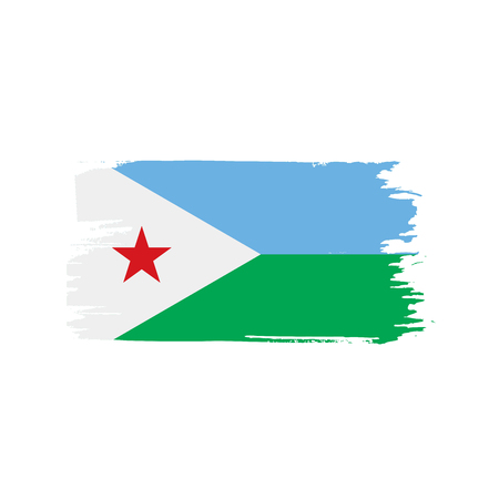 Djibouti flag, vector illustration Illustration
