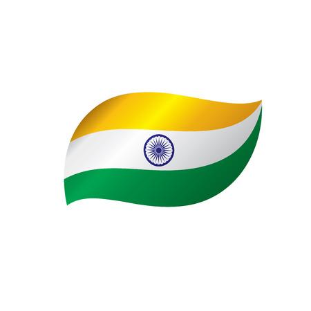India flag, vector illustration on a white background Ilustracja
