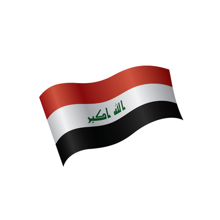 Iraqi flag, vector illustration on a white background Illustration