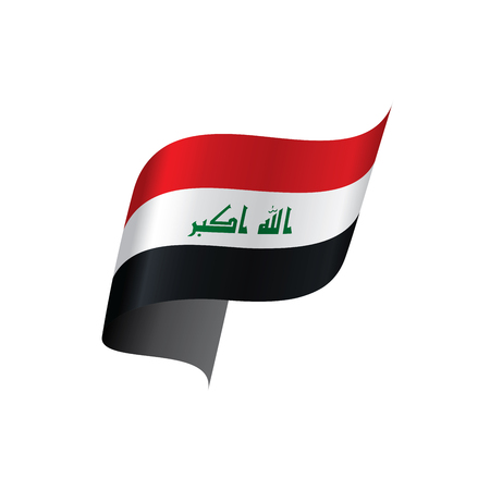 Iraq flag, vector illustration on a white background.