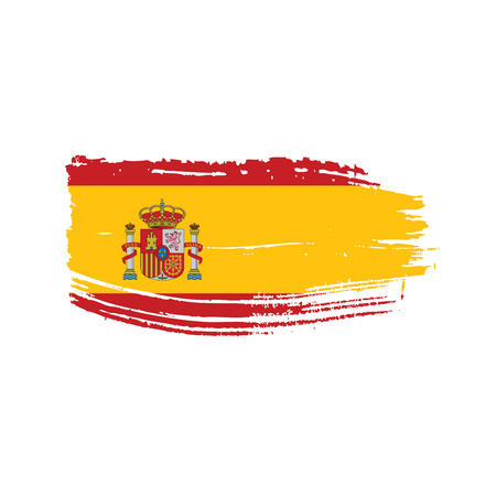 Spain flag, vector illustration on a white background.