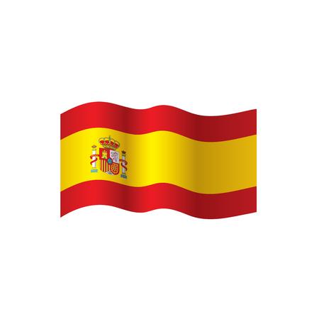 drapeau de l'Espagne, illustration vectorielle