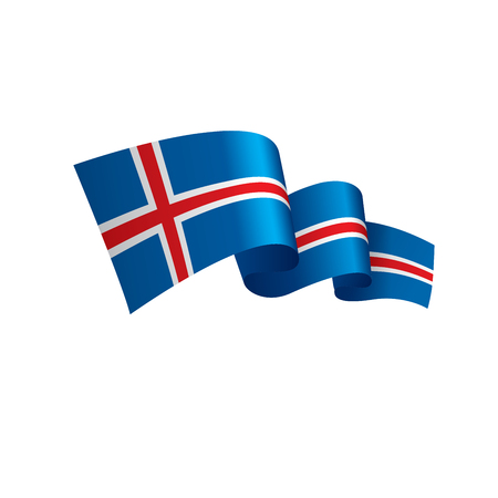Iceland flag, vector illustration Illustration