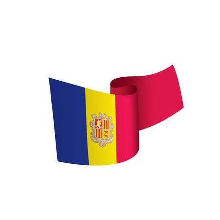 Andora vlag, vectorillustratie