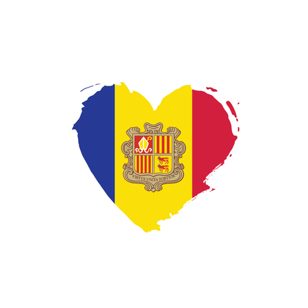 Andora flag, vector illustration