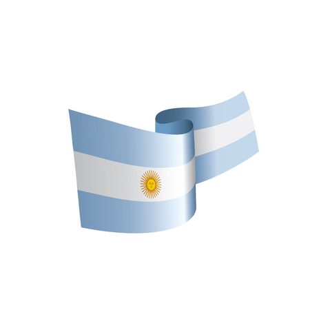 Argentina flag, vector illustration on a white background Vectores