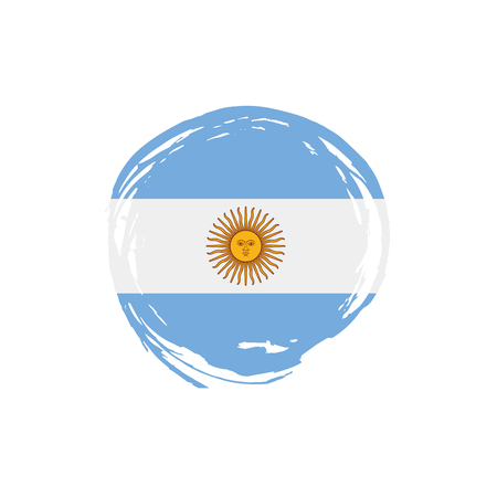 Argentina flag, vector illustration on a white background Illusztráció