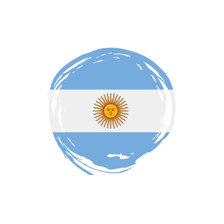 Argentina flag, vector illustration on a white background Stock Illustratie