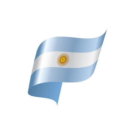 Argentina flag, vector illustration on a white background Illustration
