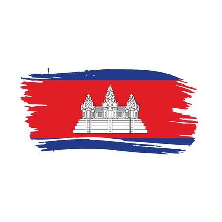 Cambodia flag, vector illustration Çizim