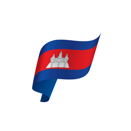 Cambodia flag, vector illustration