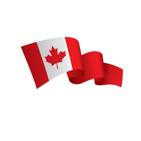 Canada flag, vector illustration