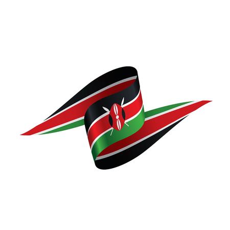Kenya flag, vector illustration on a white background