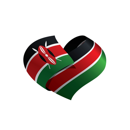 Kenya flag, vector illustration