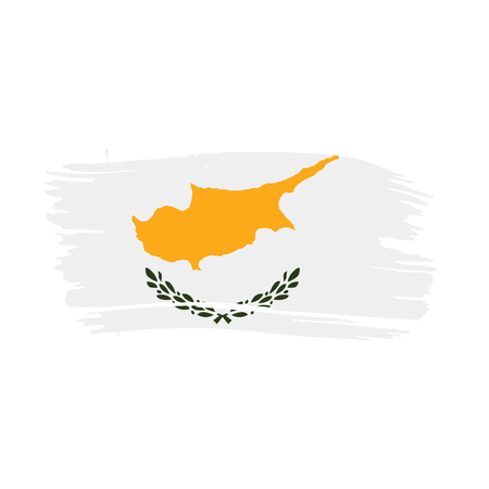 Cyprus flag, vector illustration Illustration