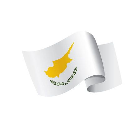 Cyprus flag, vector illustration on a white background Ilustracja