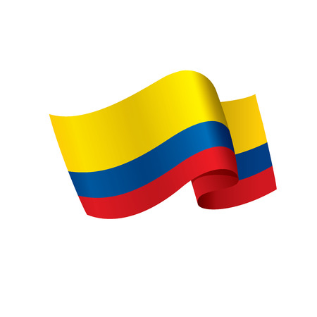 Colombia flag, vector illustration  イラスト・ベクター素材