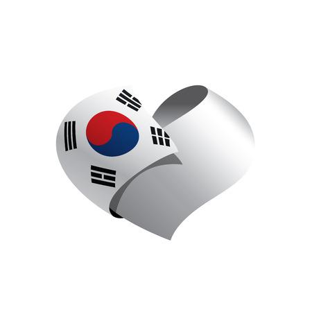 South Korean flag, vector illustration on a white background Illustration