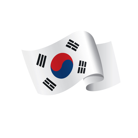 South Korean flag, vector illustration on a white background 矢量图像