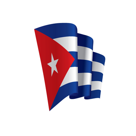 Cuba flag, vector illustration Иллюстрация