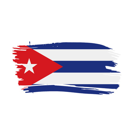 Cuba flag, vector illustration on a white background Reklamní fotografie - 94296808