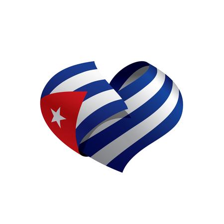 Cuba flag, vector illustration 矢量图像