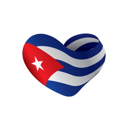 Cuba flag, vector illustration  イラスト・ベクター素材