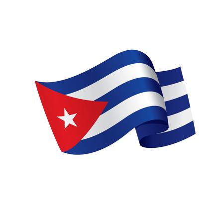 Cuba flag, vector illustration Illustration