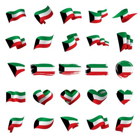 Kuwait flag, vector illustration Vectores