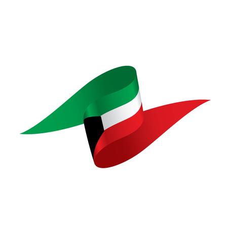 Kuwait flag, vector illustration on a white background