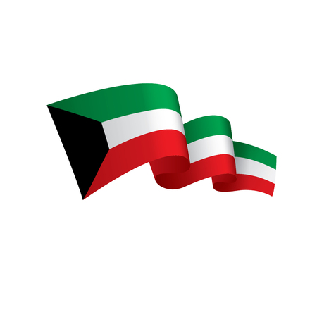 Kuwait flag, vector illustration Illustration