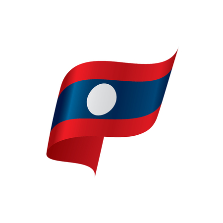 Laos flag, vector illustration