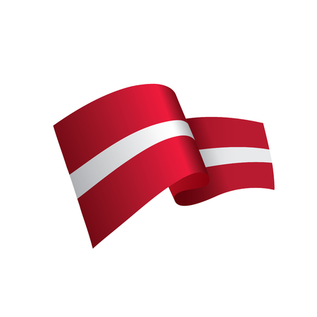 Latvia flag, vector illustration on a white background