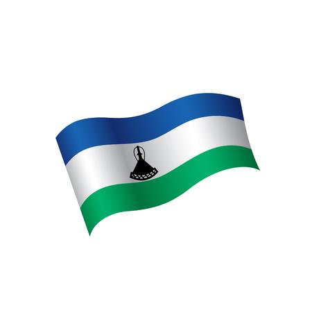 Lesotho flag, vector illustration on a white background Illustration