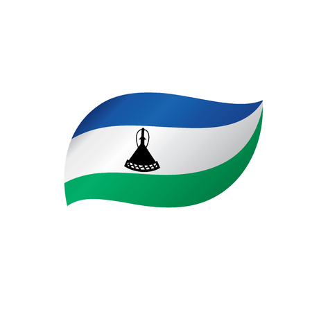 Lesotho flag, vector illustration