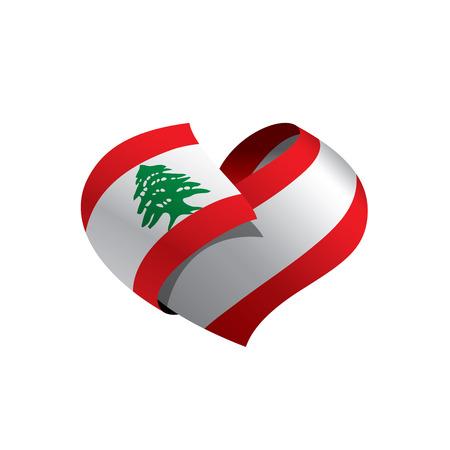 Bandiera libanese, illustrazione vettoriale
