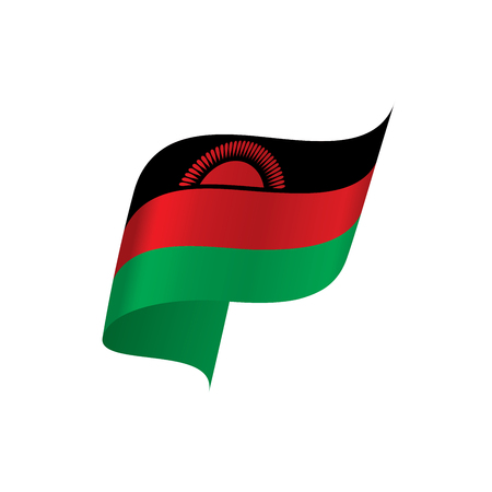 Malawi flag, vector illustration Illustration
