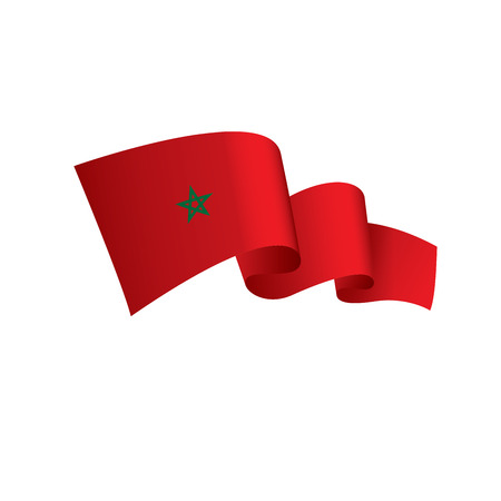 Moroccan flag vector illustration