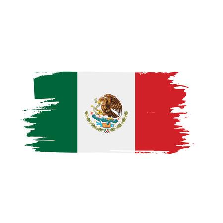 Mexican flag vector illustration