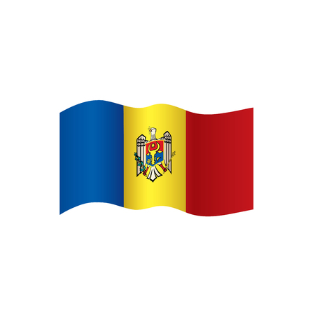 Bandeira da Moldávia, ilustração vetorial em um fundo branco Ilustración de vector