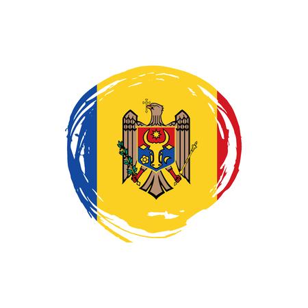 Moldova flag, vector illustration on a white background Stock Vector - 94378840