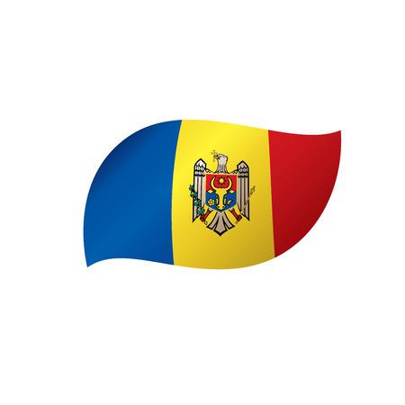 Bandeira da Moldávia, ilustração vetorial em um fundo branco