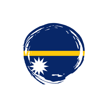 Nauru flag, vector illustration